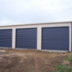 Three Door Garage Shed