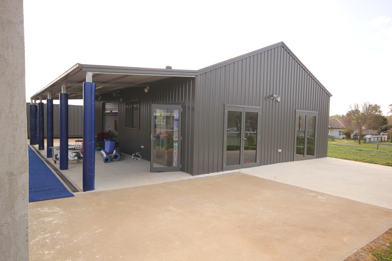 Custom Shed for Sports Storage and Club house
